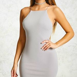 FOREVER 21 High Square Neck Bodycon Mini Dress